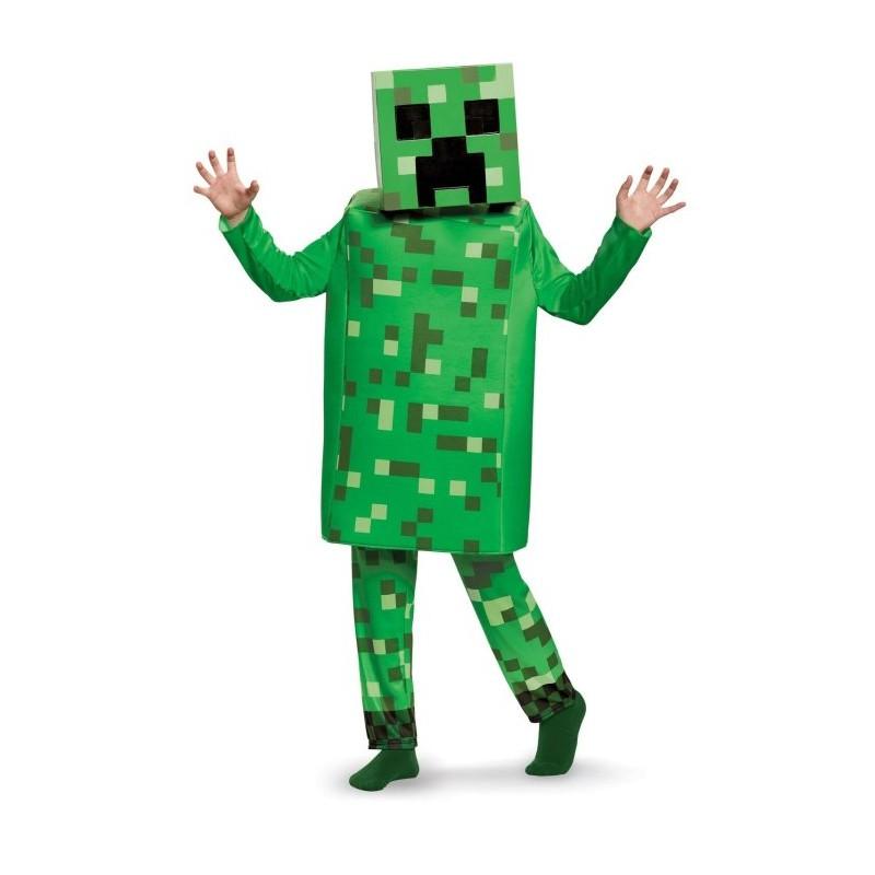 Minecraft Creeper Deluxe Maskeraddräkt Barn