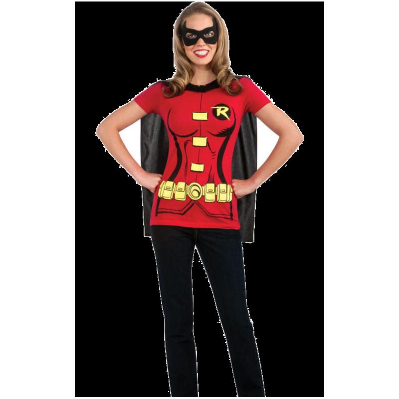 Robin T-Shirt Maskeraddräkt (Dam)