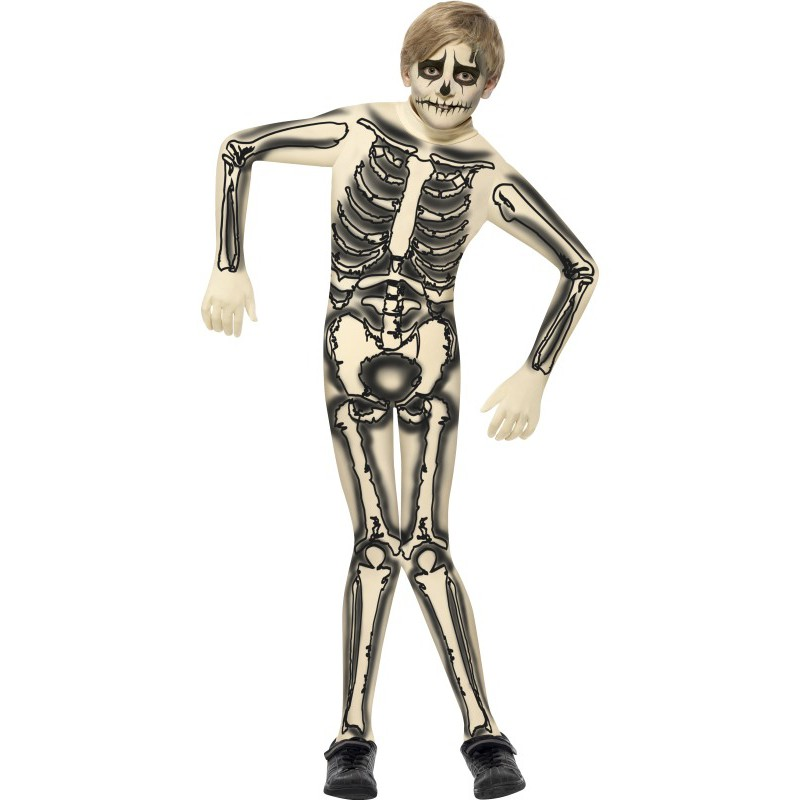 Second Skin Skelett Maskeraddräkt Barn