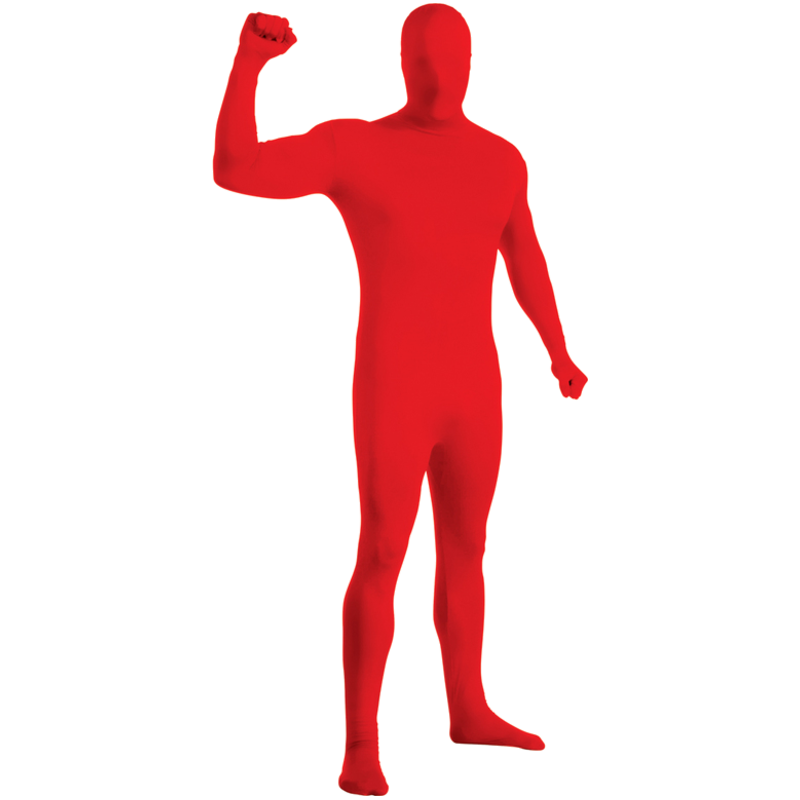 Second Skin Röd Maskeraddräkt
