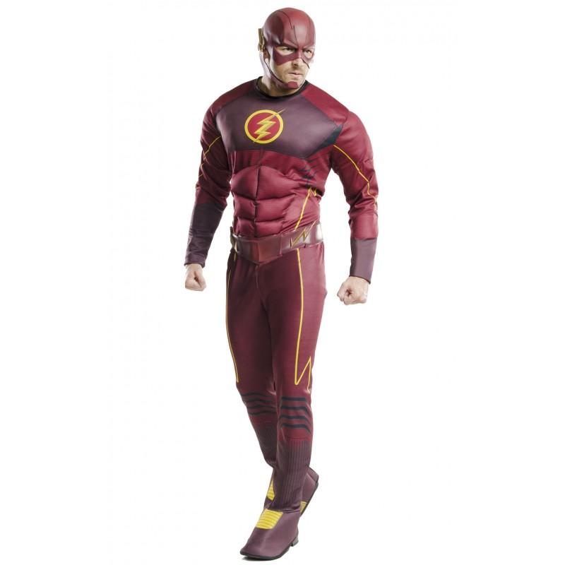 The Flash Deluxe Maskeraddräkt Vuxen