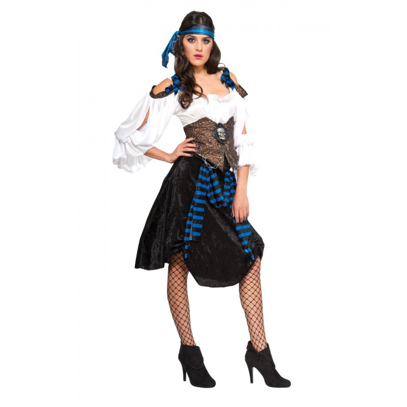 Pirat Maskeraddräkt Rum Runner Lady