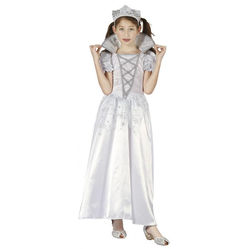 Prinsessa Vit Maskeraddräkt Barn