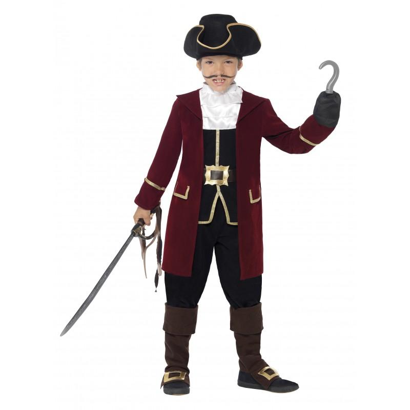 Piratkapten Deluxe Maskeraddräkt Barn