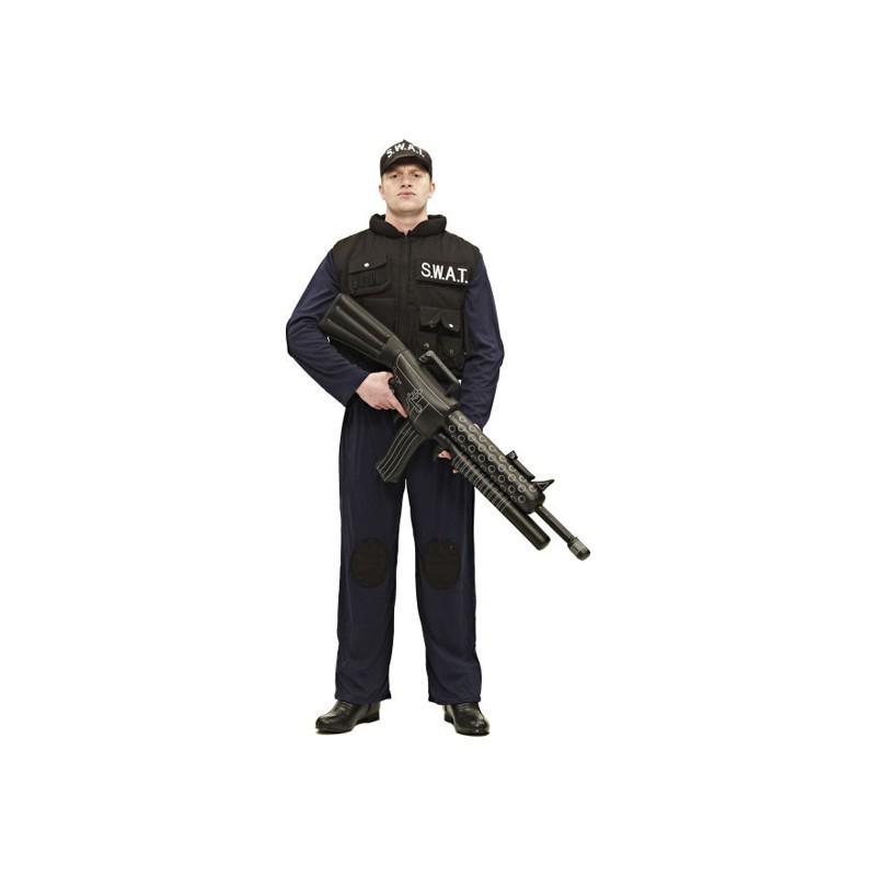 SWAT Polisman Maskeraddräkt - Standard