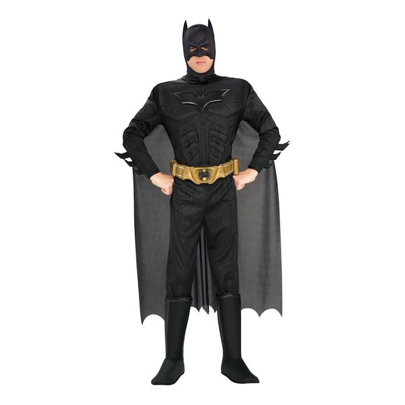 Batman Dark Knight med Muskler Maskeraddräkt - Medium