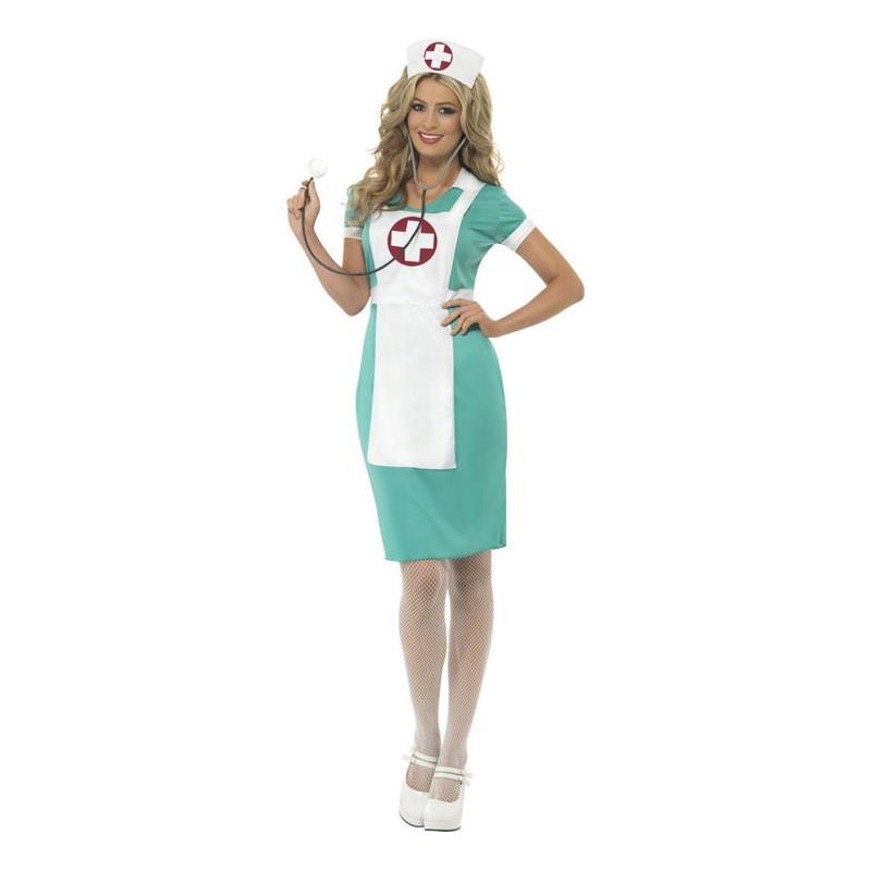 Scrubs Sjuksköterska Maskeraddräkt - Small