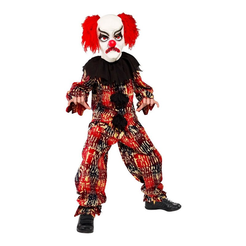 Läskig Clown Barn Maskeraddräkt - Medium