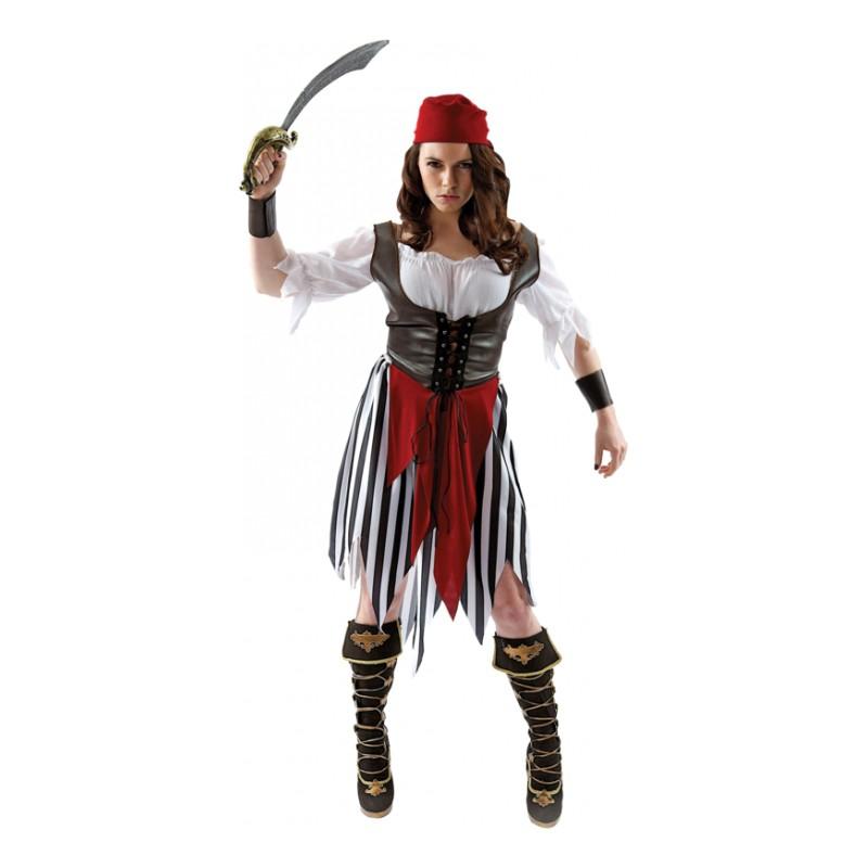Piratkvinna Maskeraddräkt - Small