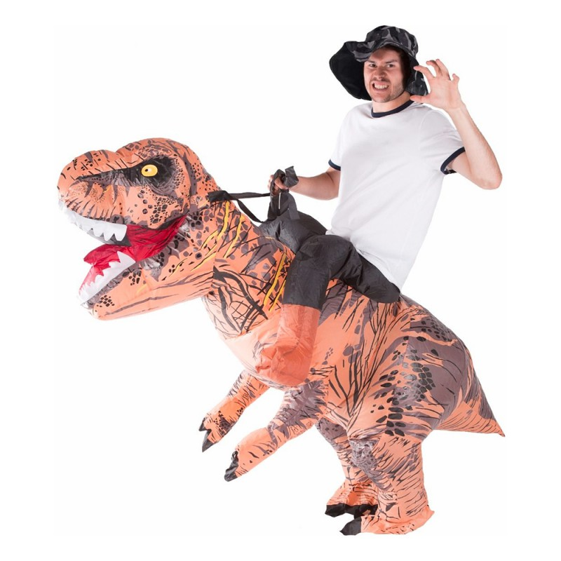 Uppblåsbar Ridande T-Rex Maskeraddräkt - One size