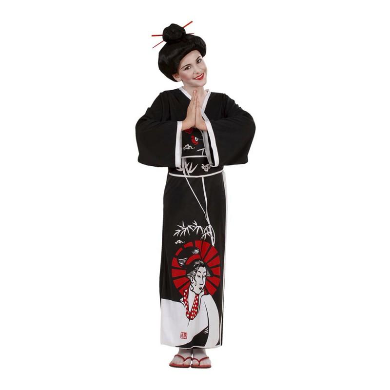 Japansk Geisha Barn Maskeraddräkt - Small
