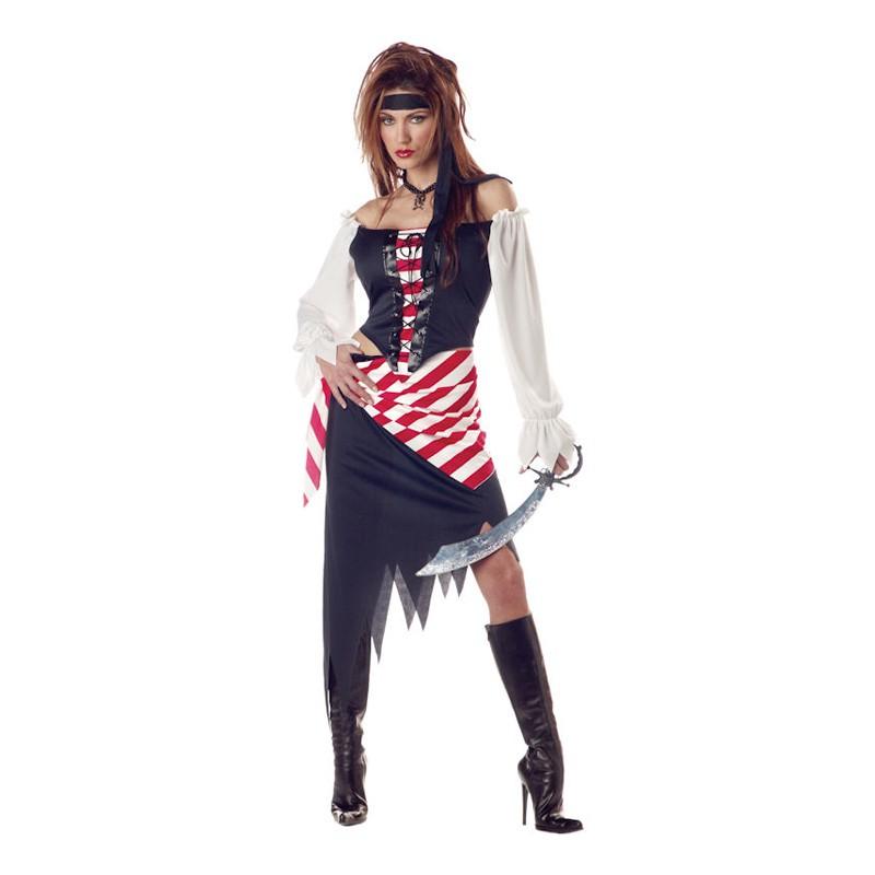Ruby Den Vackra Piraten Maskeraddräkt - Medium