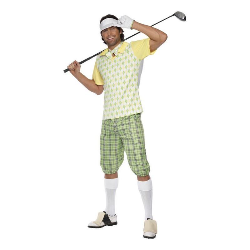 Manlig Golfare Maskeraddräkt - Medium