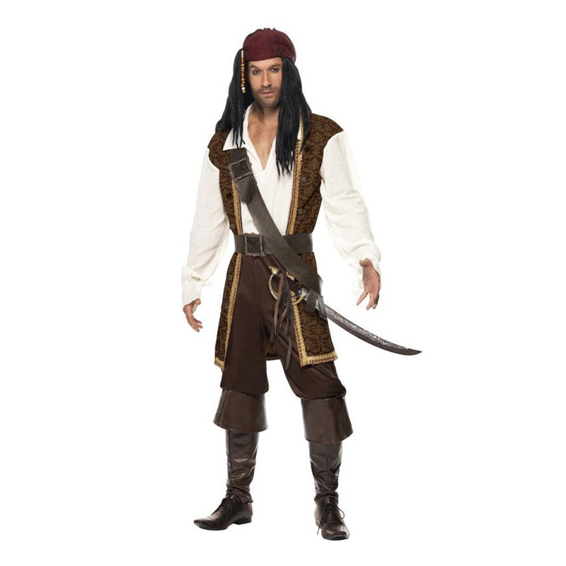 De Sju Haven Pirat Maskeraddräkt - Medium