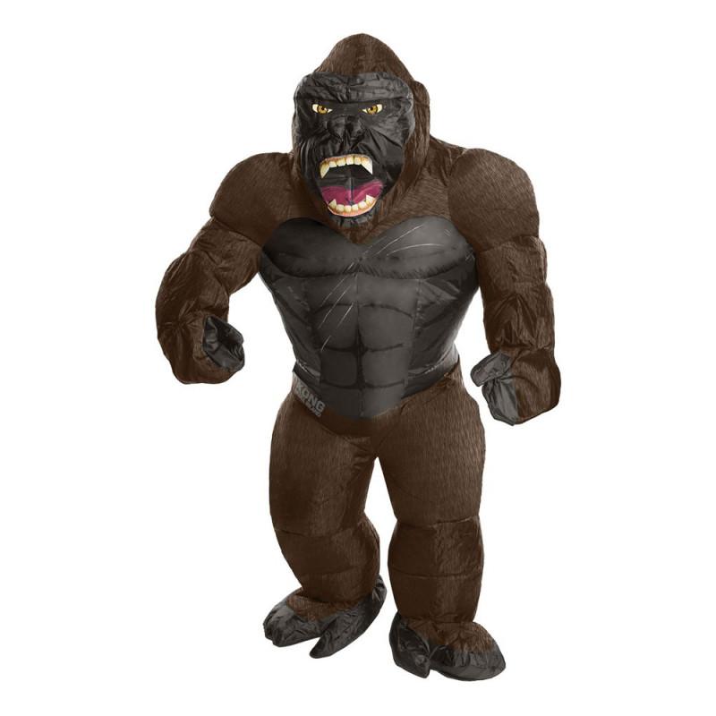 Uppblåsbar King Kong Maskeraddräkt - One size