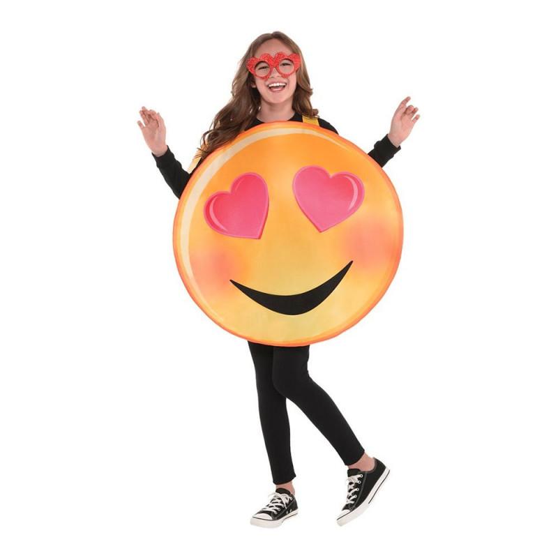 Emoji Heart Eyes Barn Maskeraddräkt