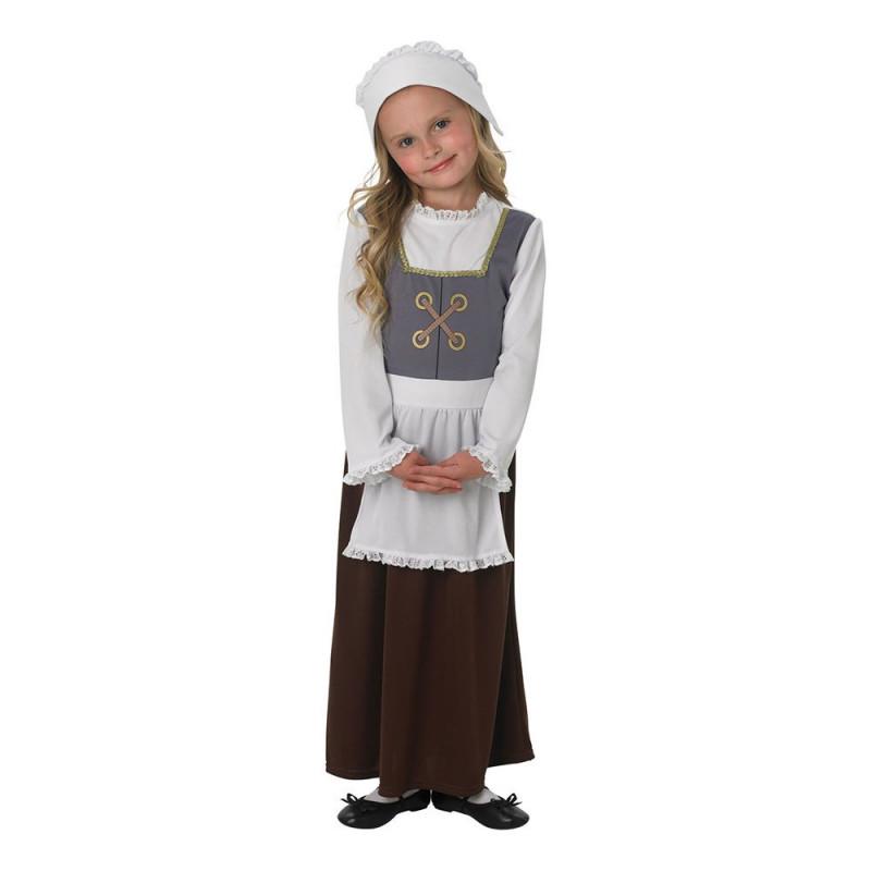 Tudor Flicka Barn Maskeraddräkt - Small