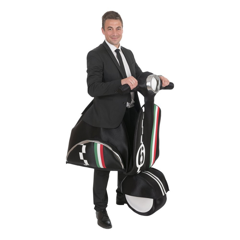 Åkande Moped Maskeraddräkt - One size
