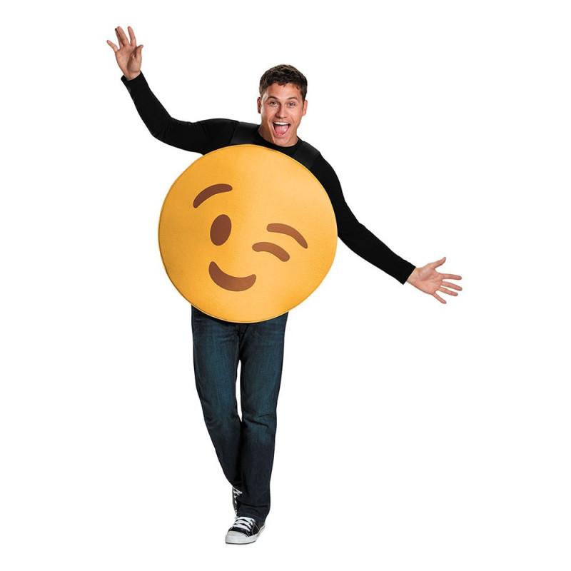 Emoji Wink Maskeraddräkt - Medium