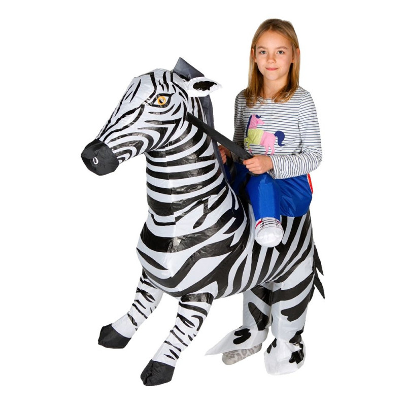 Uppblåsbar Zebra Barn Maskeraddräkt