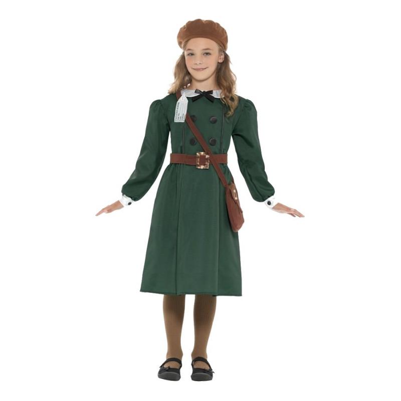 WW2 Flicka Barn Maskeraddräkt - Small