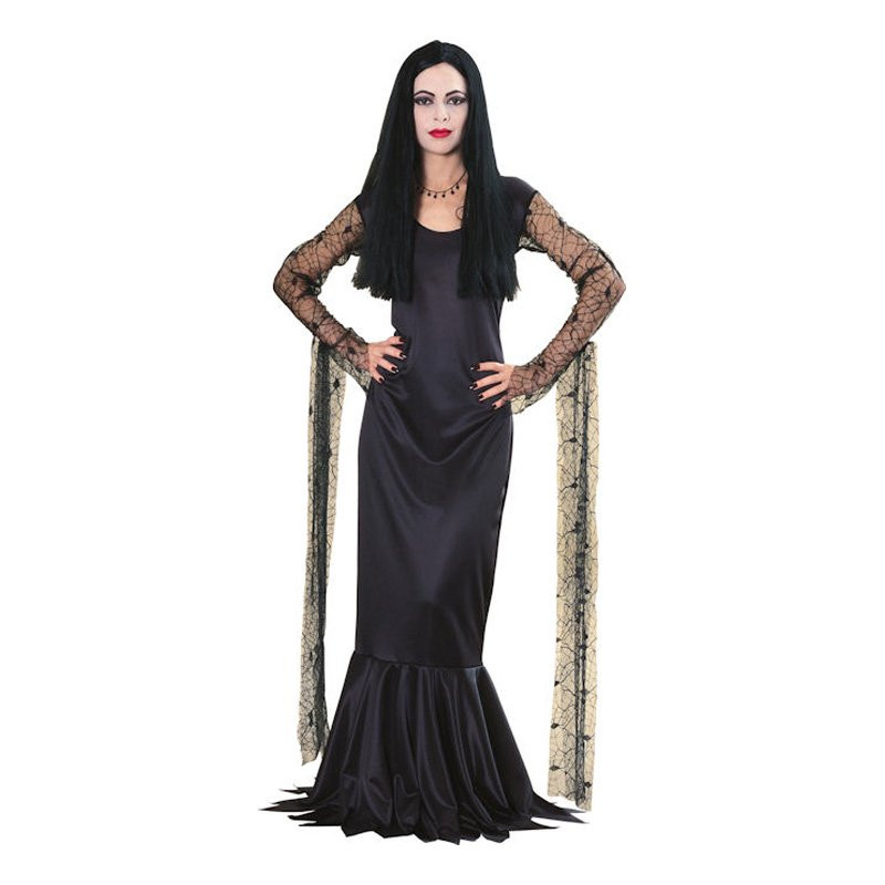 Morticia Addams Maskeraddräkt - Medium