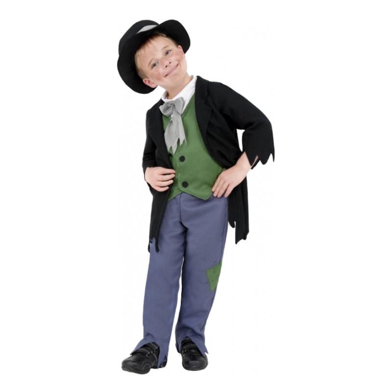 Viktoriansk Pojke Barn Maskeraddräkt - Small