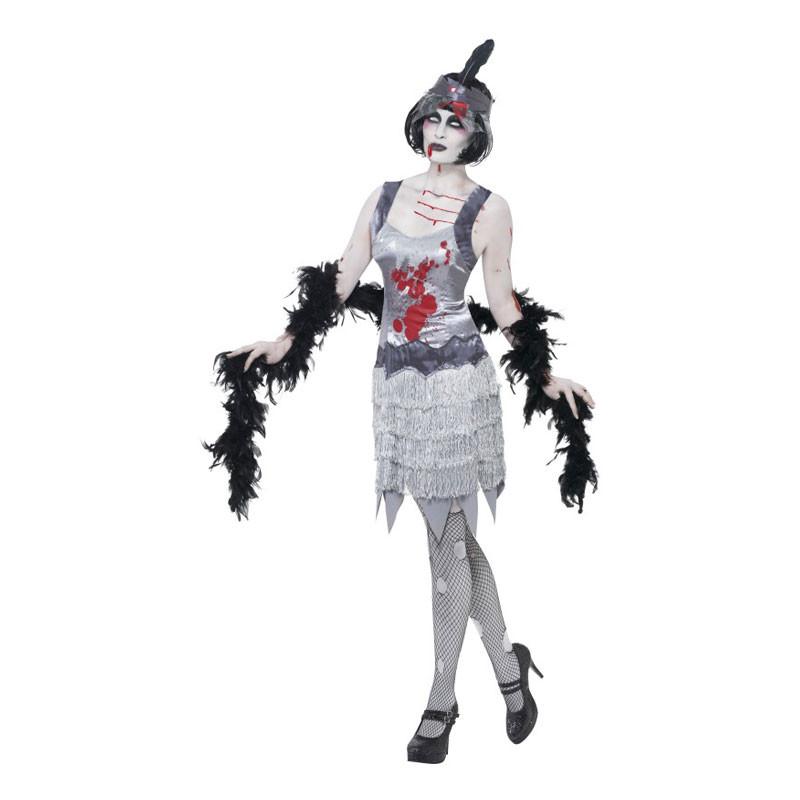 Zombie Flapper Maskeraddräkt - Small