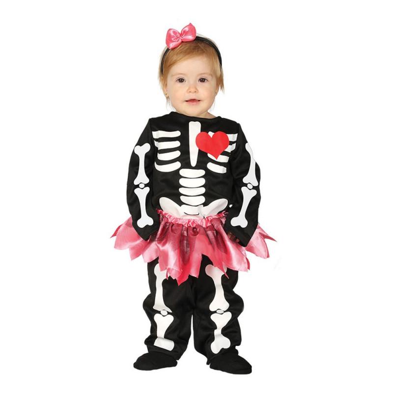 Skelett Klänning Bebis Maskeraddräkt - 12-24 månader