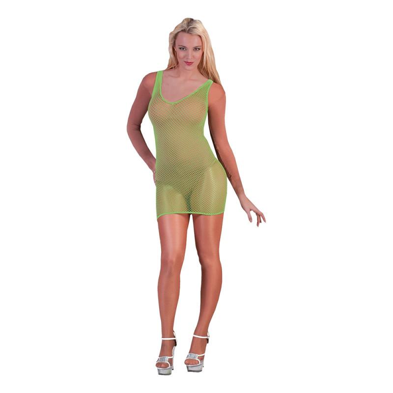 Fisknätsklänning Grön - One size