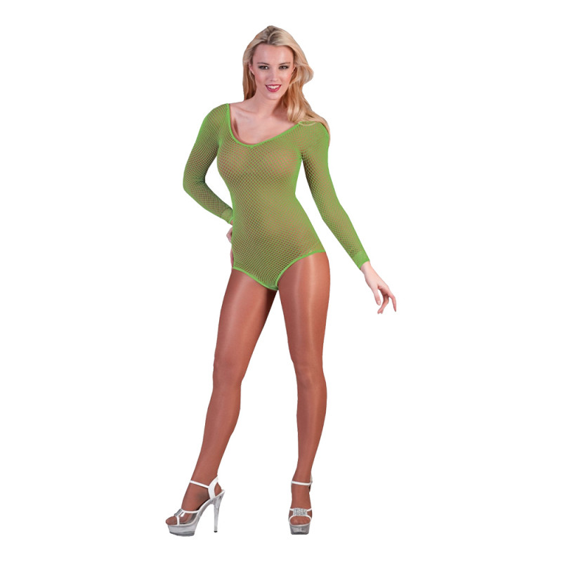 Bodysuit Fisknät Grön - One size
