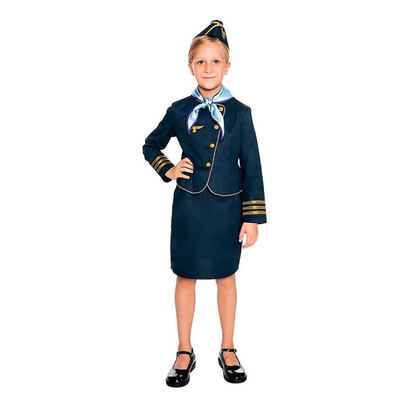 Flygvärdinna Deluxe Barn Maskeraddräkt - 168