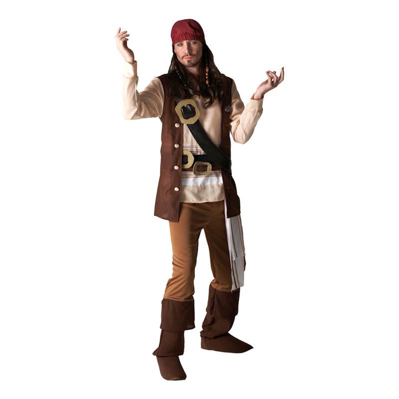 Jack Sparrow Maskeraddräkt - Standard