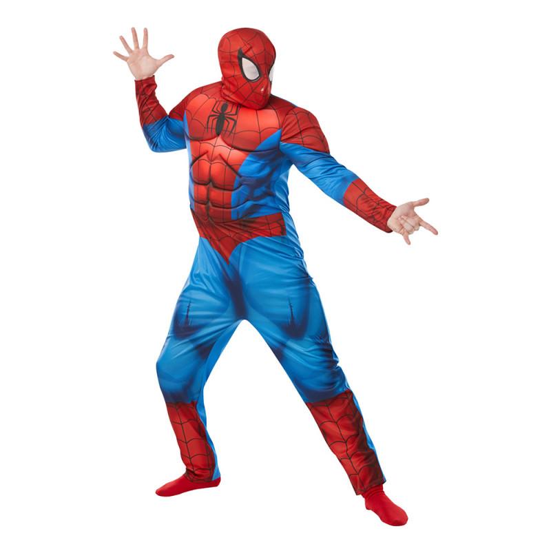 Spiderman Deluxe Maskeraddräkt - Standard
