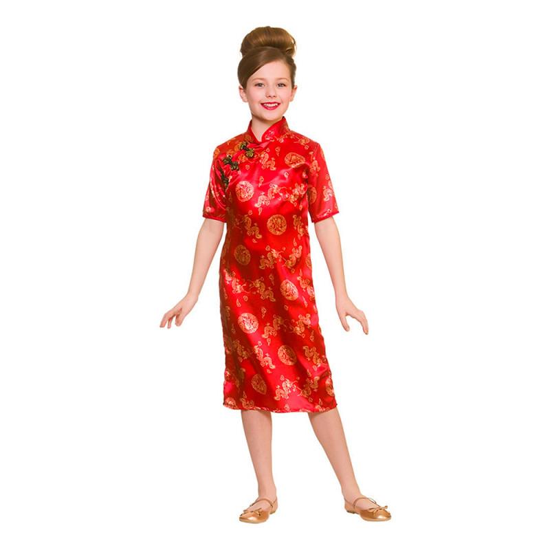 Kinesisk Flicka Barn Maskeraddräkt - Large
