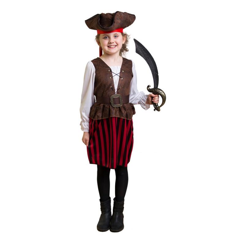Piratflicka Barn Maskeraddräkt - Small