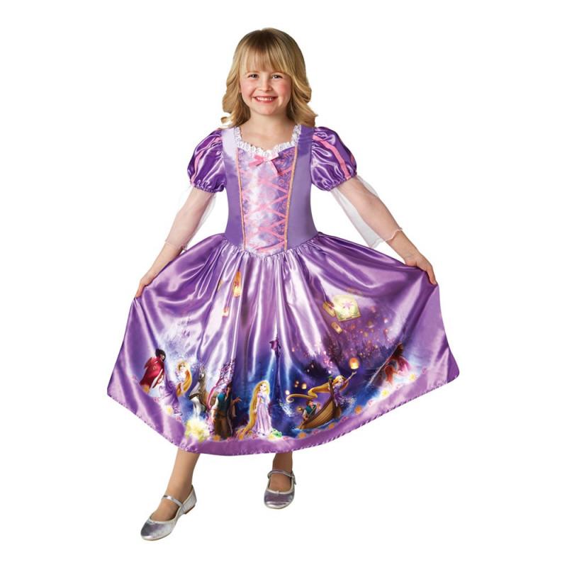 Prinsessan Rapunzel Barn Klänning - Small
