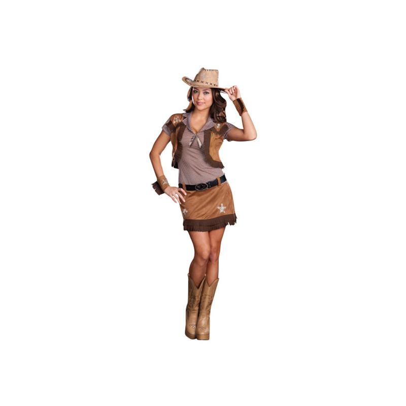 Cowgirl Maskeraddräkt - One size
