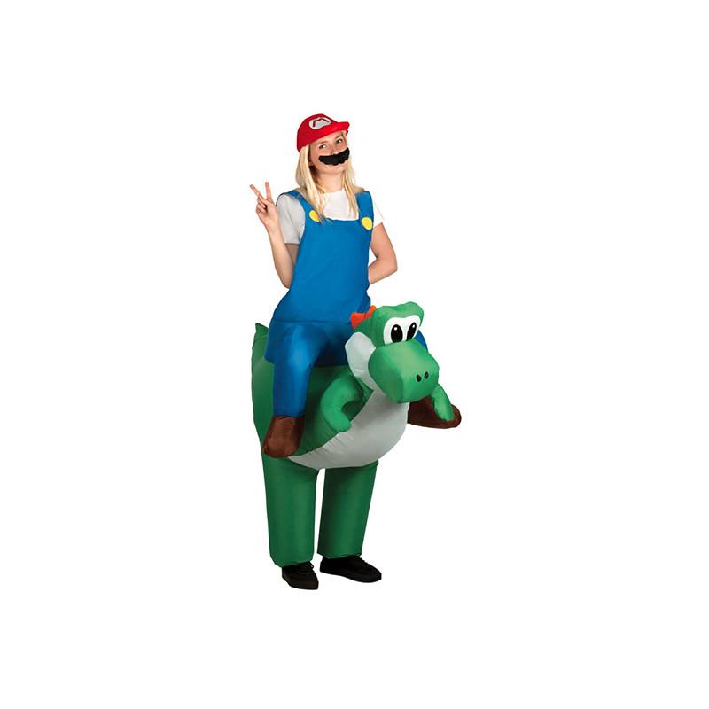 Uppblåsbar Ridande Dinosaurie Maskeraddräkt - One size