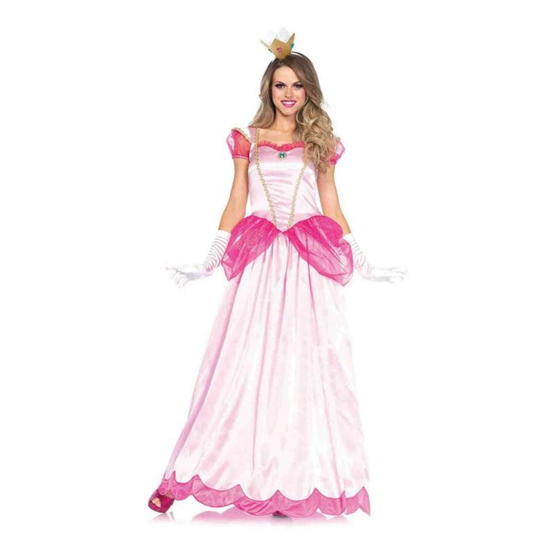Peachy Rosa Prinsessa Maskeraddräkt - Small