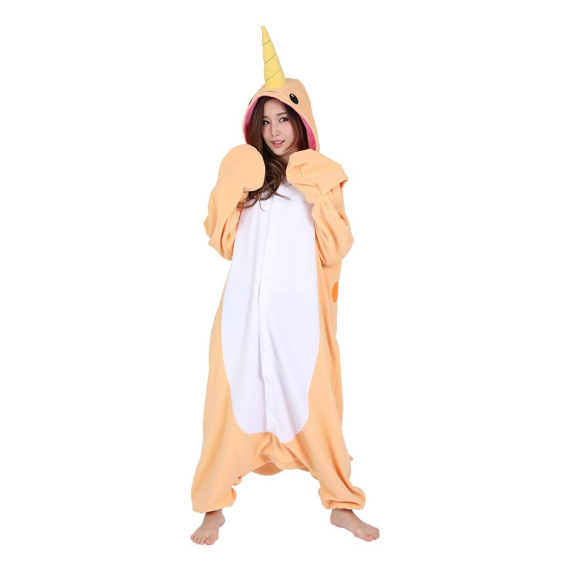 Narval Orange Kigurumi - Medium