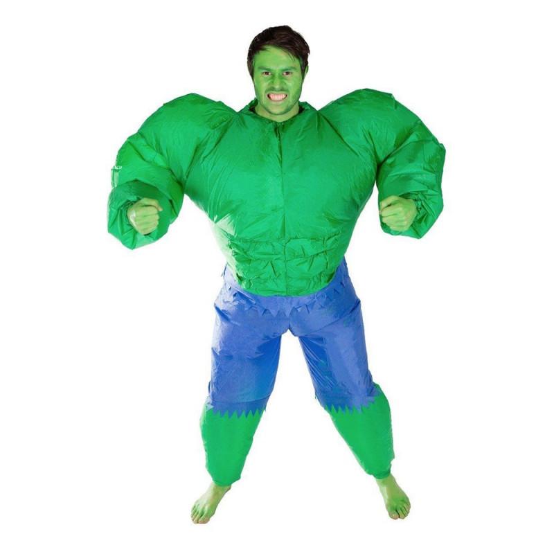 Uppblåsbar Hulken Maskeraddräkt - One size