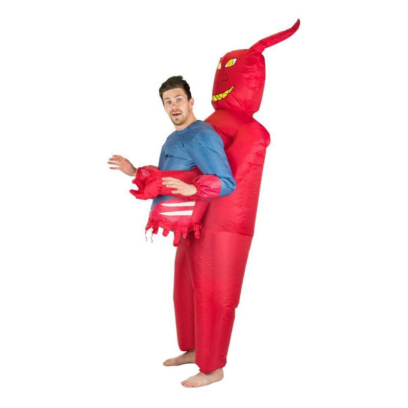 Uppblåsbar Djävul Maskeraddräkt - One size