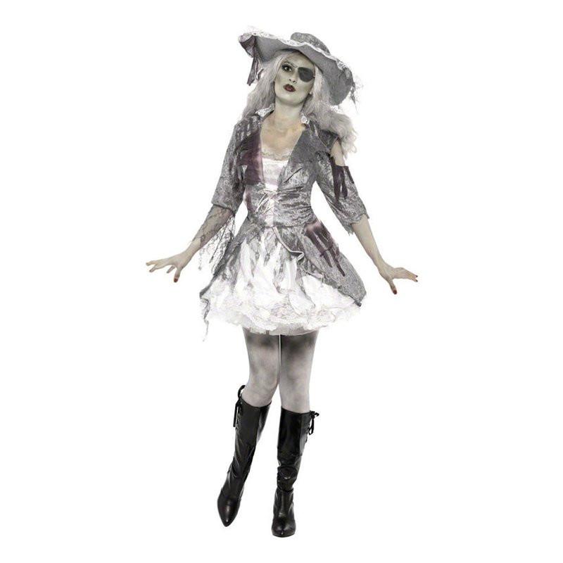 Piratdam Halloween Maskeraddräkt - Small