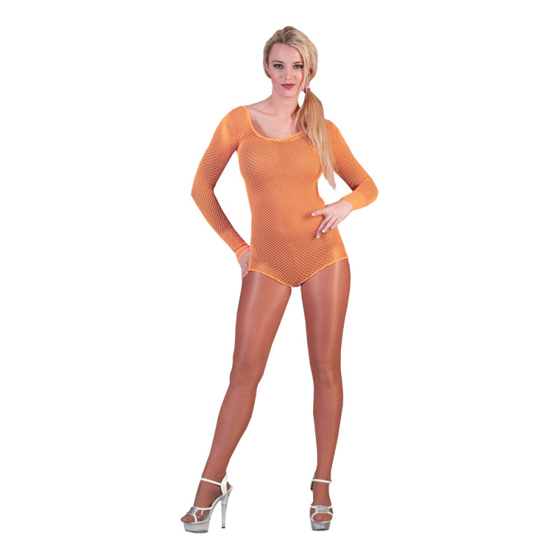 Bodysuit Fisknät Orange - One size