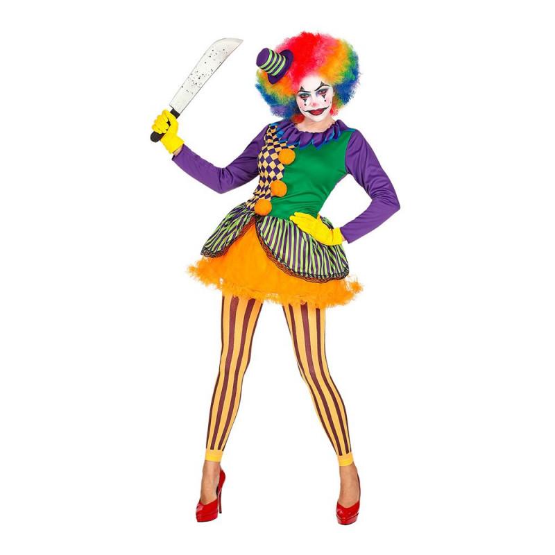 Oskyldig Clown Dam Maskeraddräkt - Small