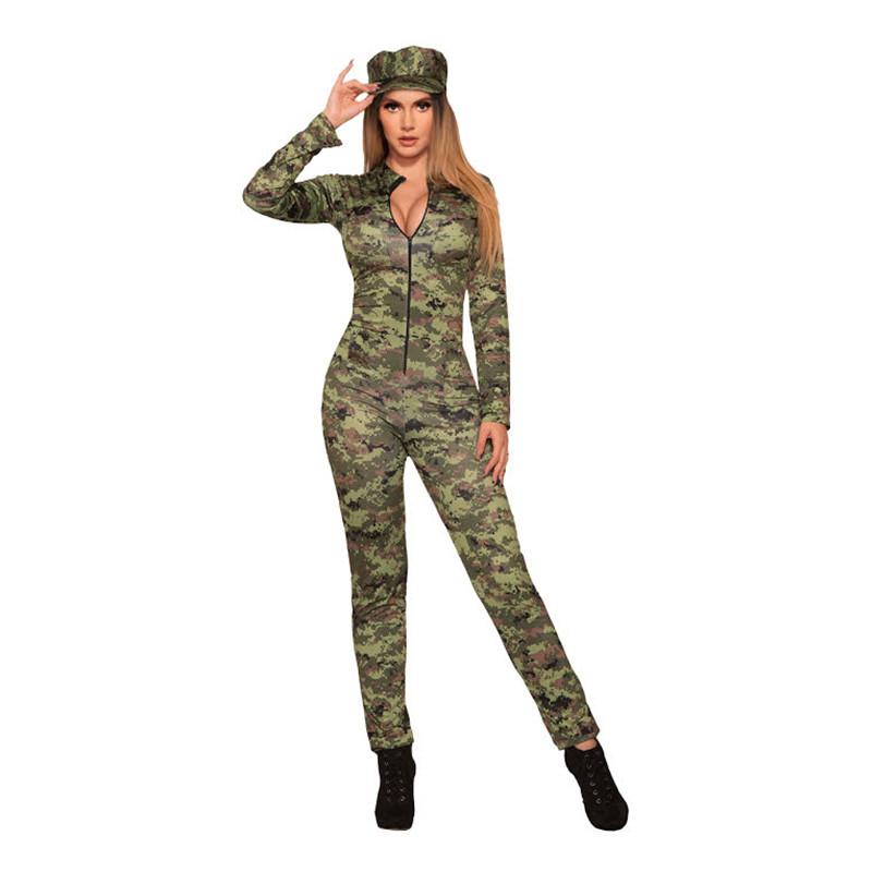 Militärtjej Jumpsuit Maskeraddräkt - XS/Small