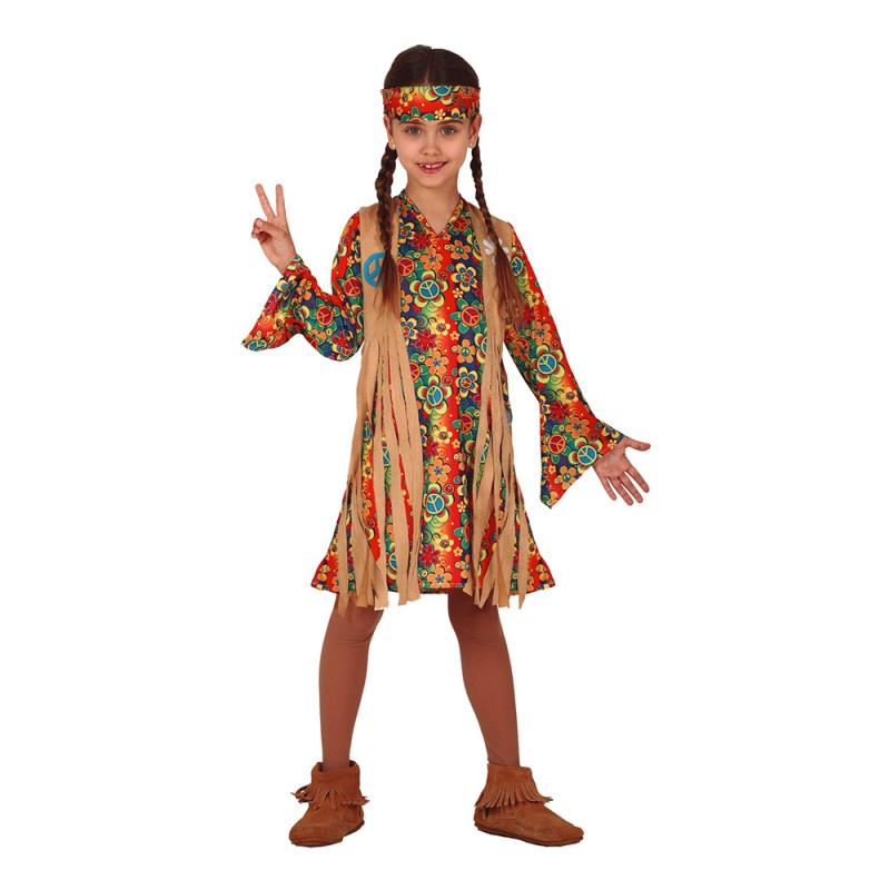 Hippie Barn Maskeraddräkt - 5-6 år