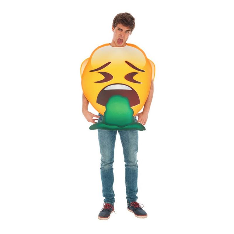 Emoji Vomito Maskeraddräkt - One size