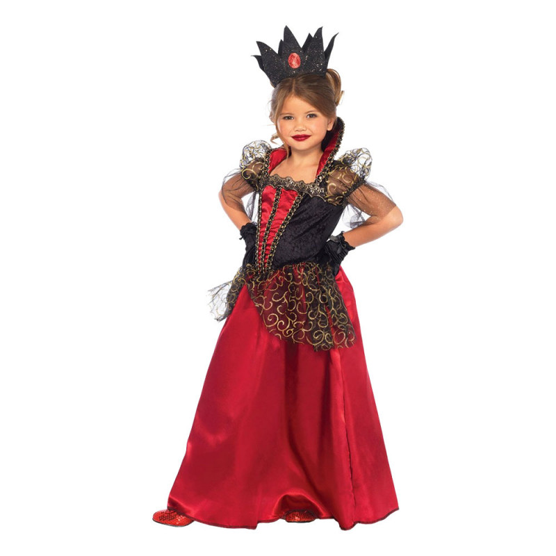 Drottning Halloween Barn Deluxe Maskeraddräkt - Small